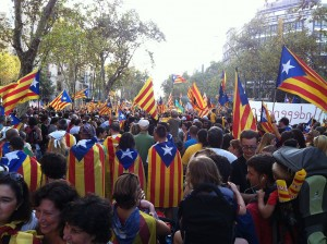 banderas independentistas cat manif